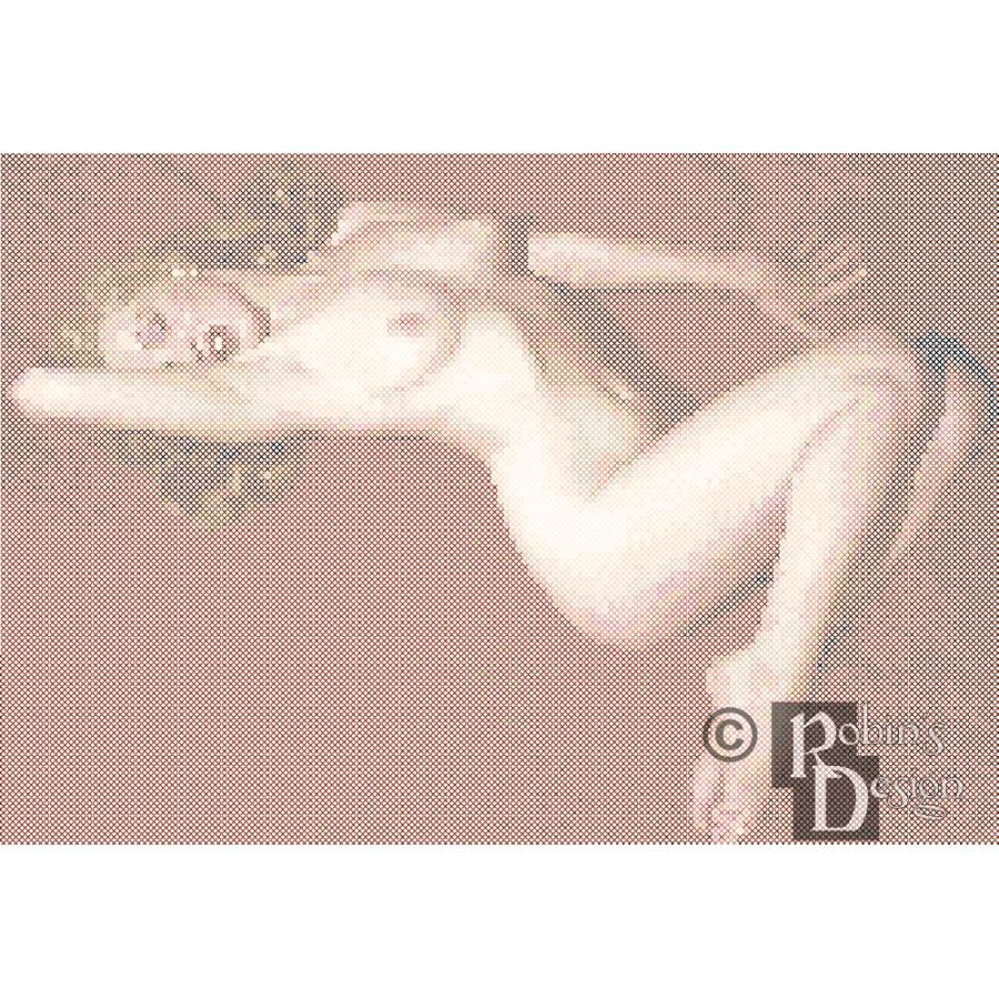 Marilyn Monroe Nude Cross Stitch Pattern PDF