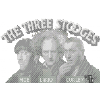 The Three Stooges Cross Stitch Pattern PDF