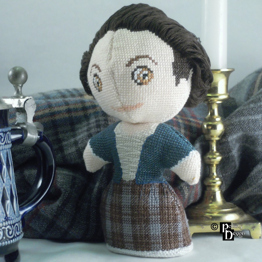 Claire Fraser Doll 3D Cross Stitch Sewing Pattern PDF