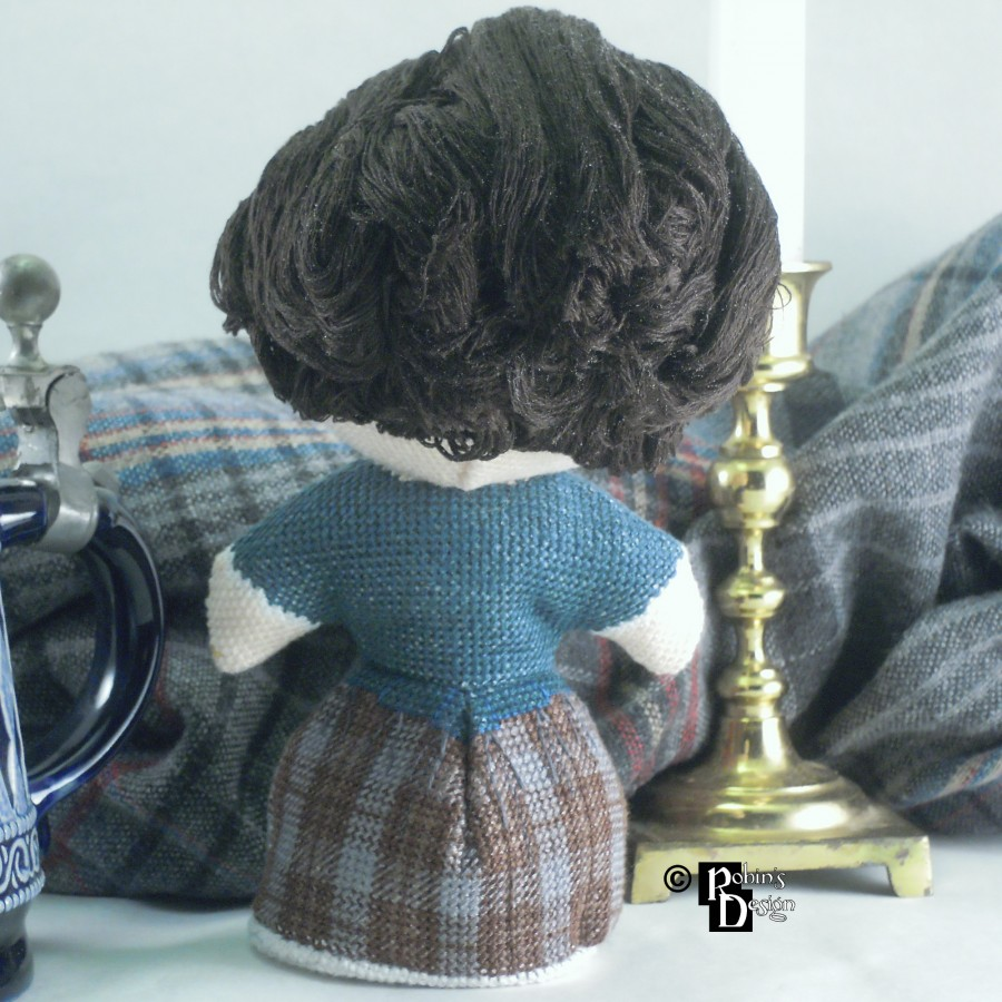Claire Fraser Doll 3D Cross Stitch Sewing Pattern PDF Download