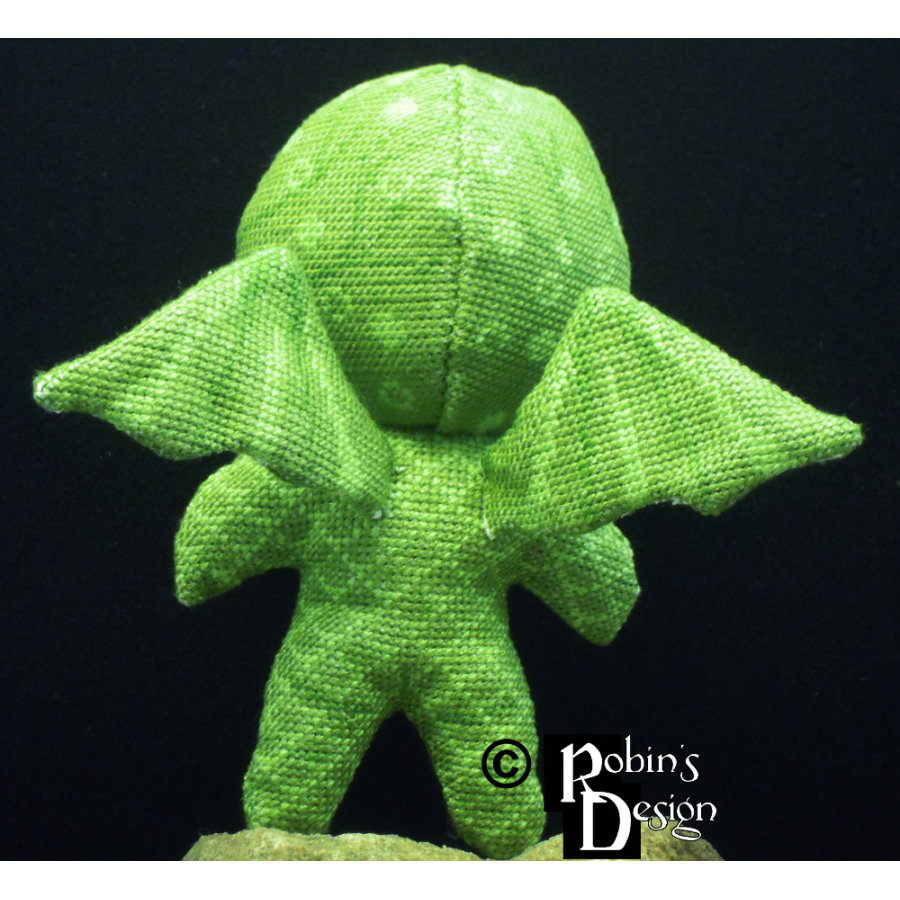 Cute Cthulhu Doll 3D Cross Stitch Sewing Pattern PDF