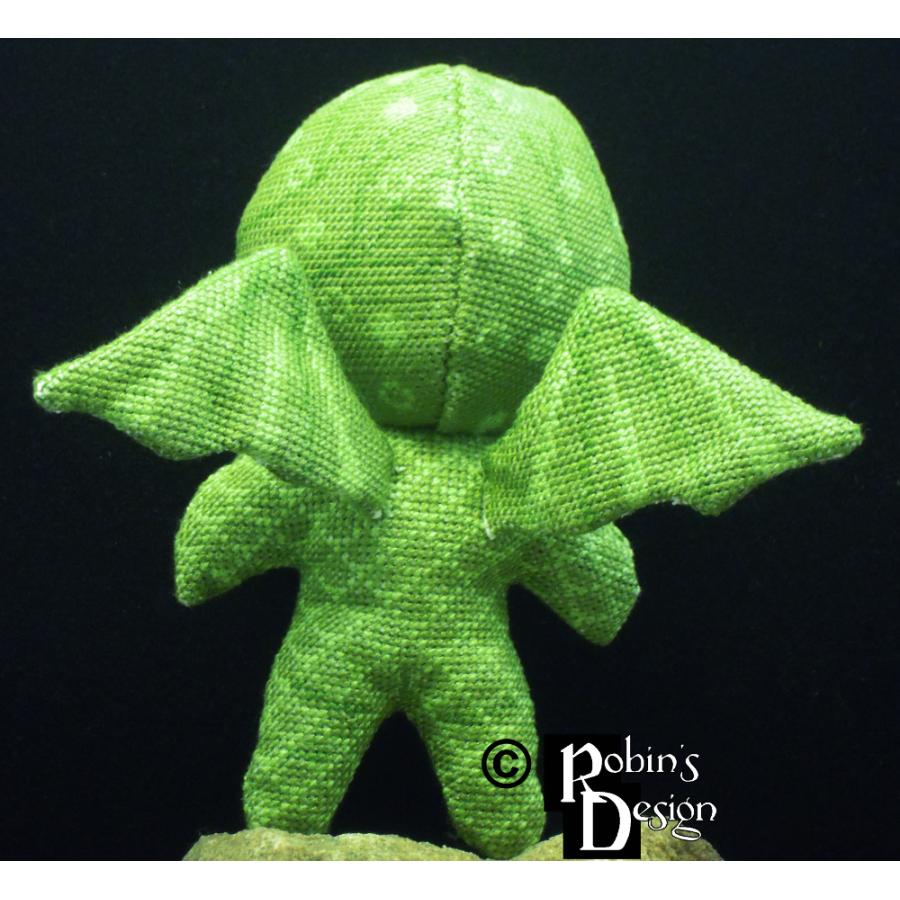Cute Cthulhu Doll 3D Cross Stitch Sewing Pattern PDF