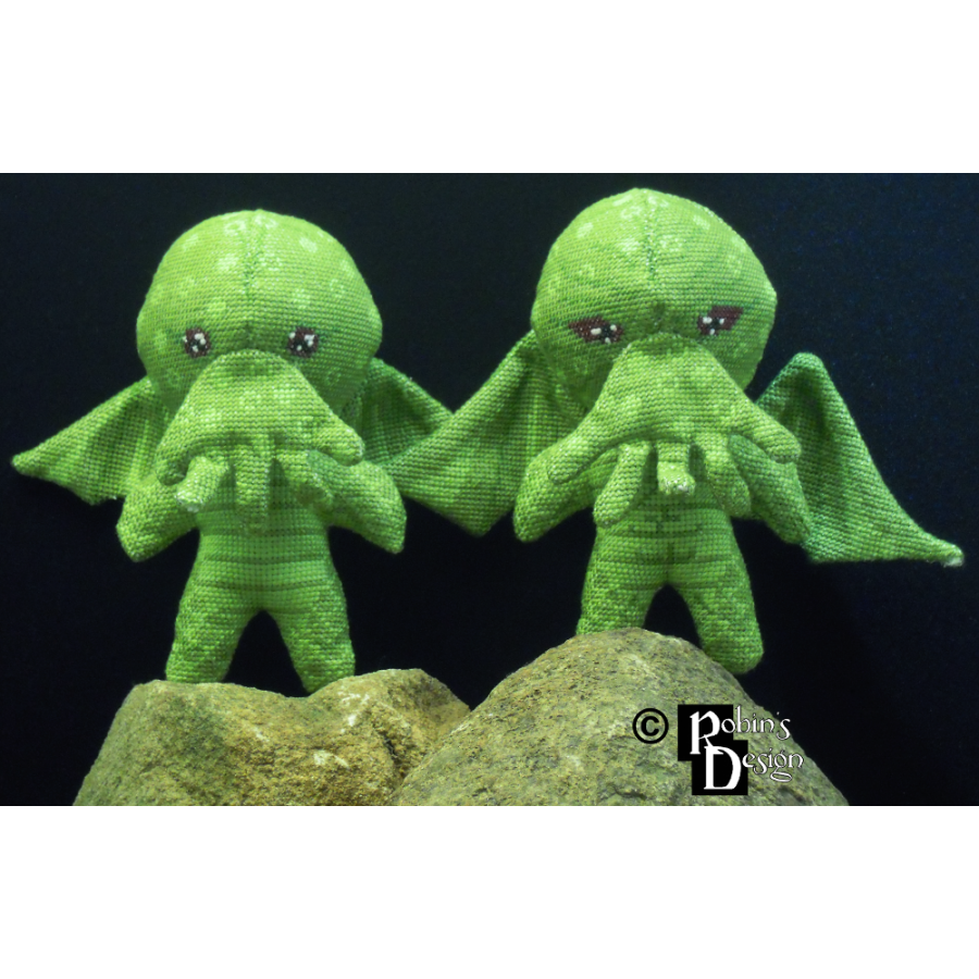 Cthulhu Doll 3D Cross Stitch Sewing Pattern PDF