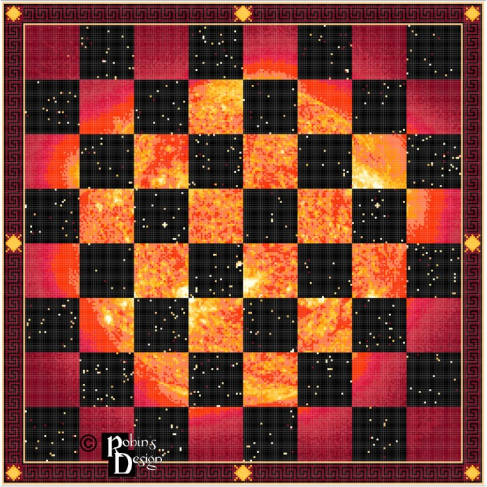 Day and Night Chessboard Cross Stitch Pattern PDF Download