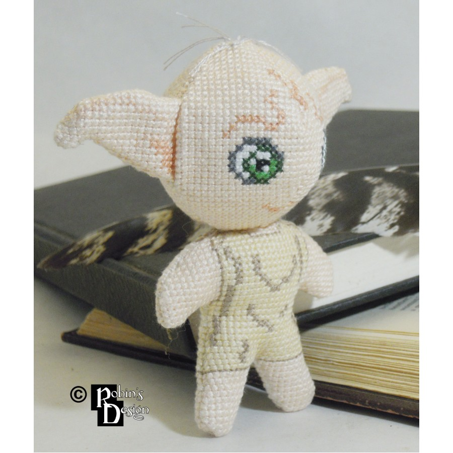 Dobby the House Elf Doll 3D Cross Stitch Sewing Pattern PDF Download