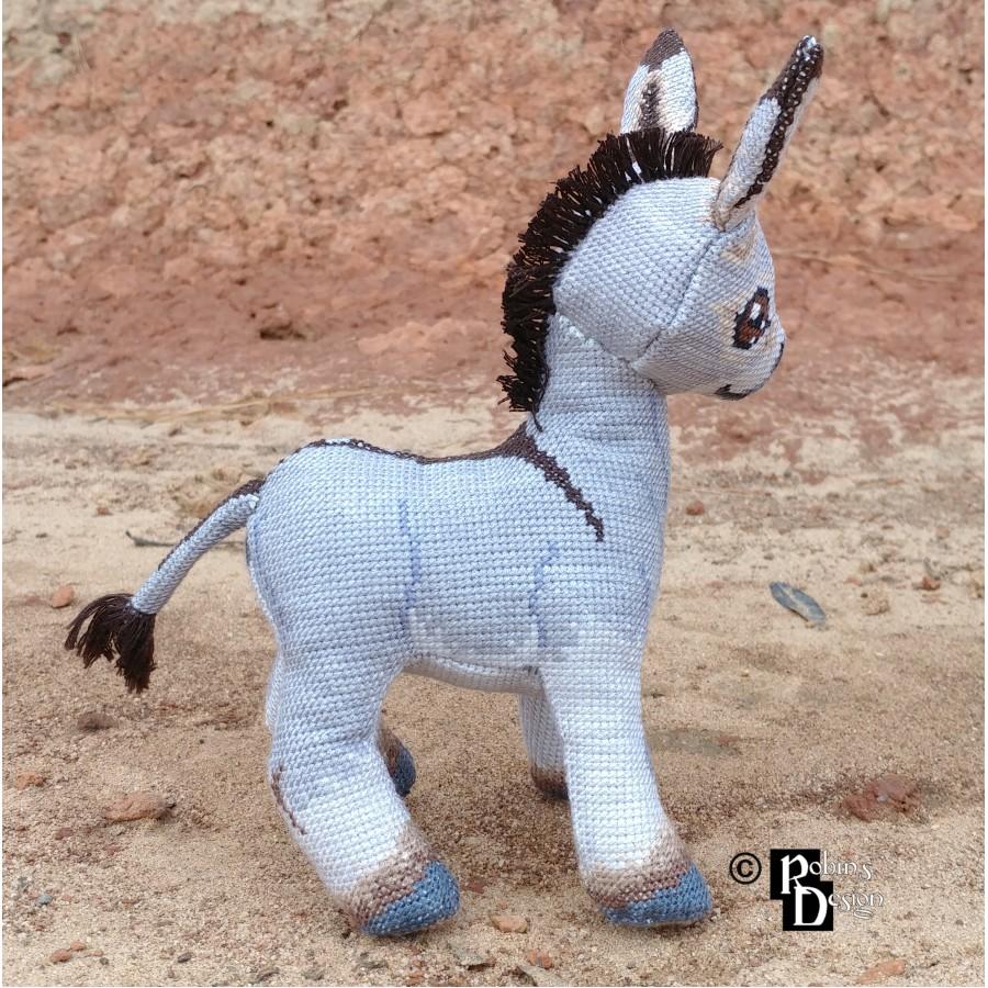 Omi the Donkey Doll 3D Cross Stitch Animal Sewing Pattern PDF Download