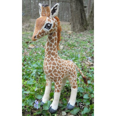 Barney the Giraffe Doll 3D Cross Stitch Animal Sewing Pattern PDF