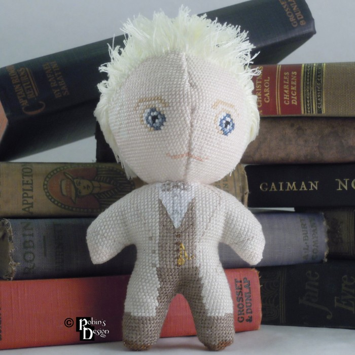 Aziraphale Doll 3D Cross Stitch Sewing Pattern PDF Download