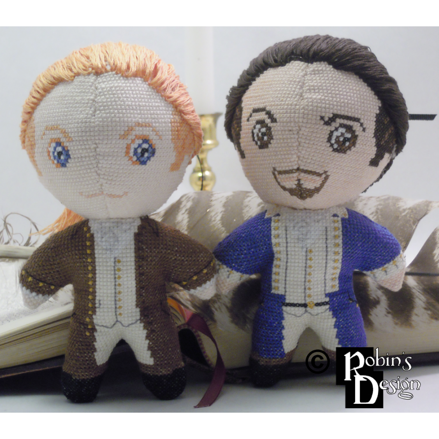 Alexander Hamilton the Musical Version Doll 3D Cross Stitch Sewing Pattern PDF
