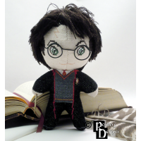 Harry Potter Doll 3D Cross Stitch Sewing Pattern PDF Download