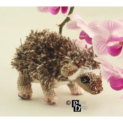 Prickly Pete the African Pygmy Hedgehog Doll 3D Cross Stitch Animal Sewing Pattern PDF
