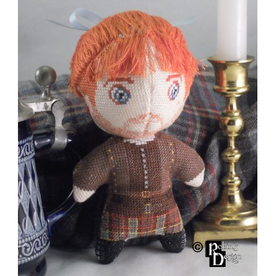 Jamie Fraser Doll 3D Cross Stitch Sewing Pattern PDF Download