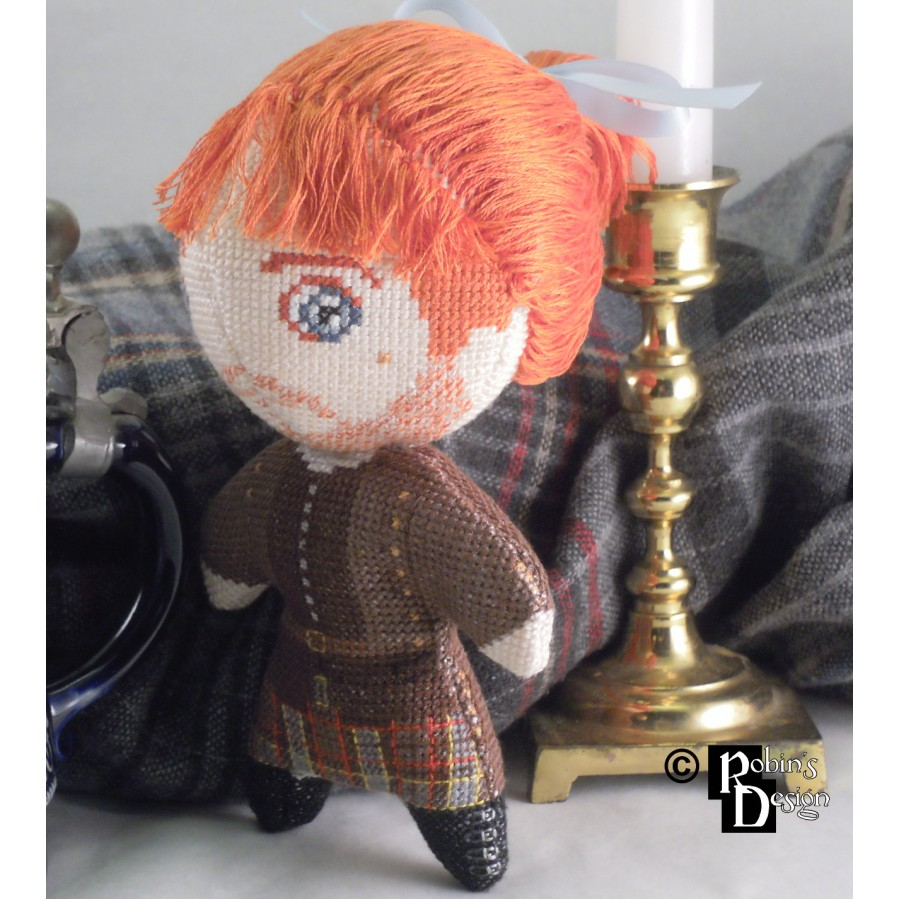 Jamie Fraser Doll 3D Cross Stitch Sewing Pattern PDF Craft
