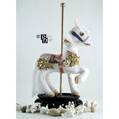 Jingles Carousel Horse Doll 3D Cross Stitch Animal Sewing Pattern PDF