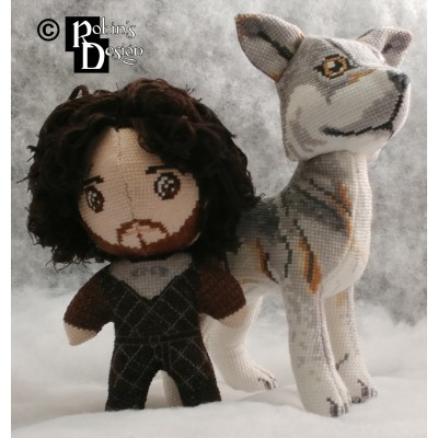 Jon Snow Doll 3D Cross Stitch Sewing Pattern PDF