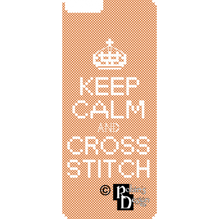Keep Calm and Cross Stitch iPhone Case Easy Cross Stitch Pattern PDF