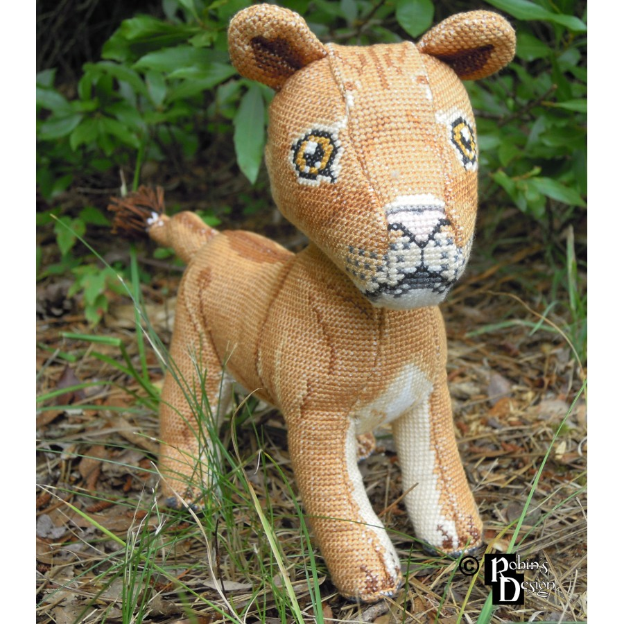 Mfalme and Malkia the African Lions Dolls 3D Cross Stitch Animals Sewing Pattern PDF