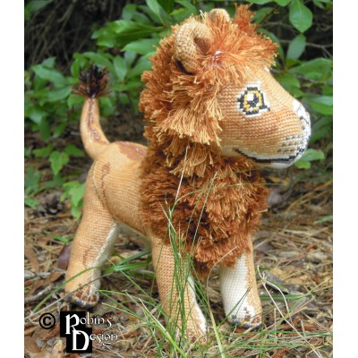 Mfalme the African Lion Doll 3D Cross Stitch Animal Sewing Pattern PDF