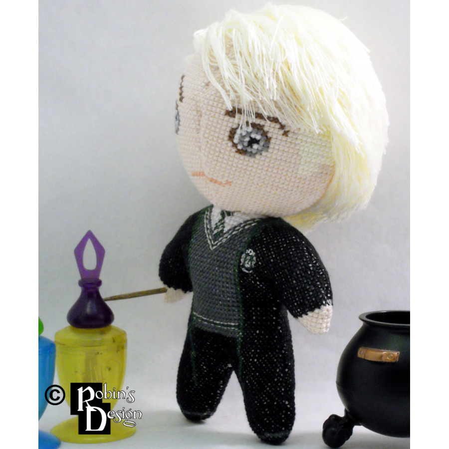 Draco Malfoy Doll 3D Cross Stitch Sewing Pattern PDF
