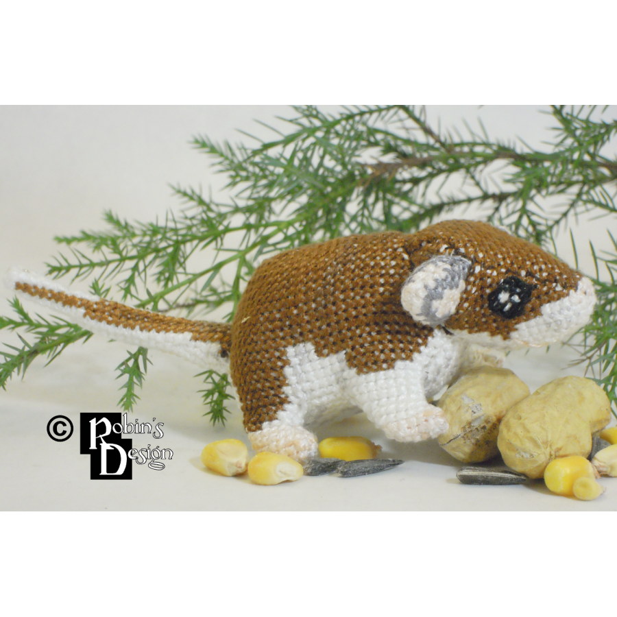 Squirt the Deer Mouse Doll 3D Cross Stitch Animal Sewing Pattern PDF