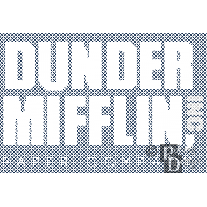 Dunder Mifflin Logo Cross Stitch Pattern for Shirt Patch PDF