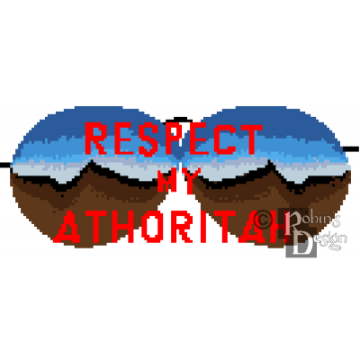 Respect My Athoritah Cross Stitch Pattern PDF