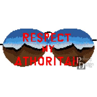 Respect My Athoritah Cross Stitch Pattern PDF