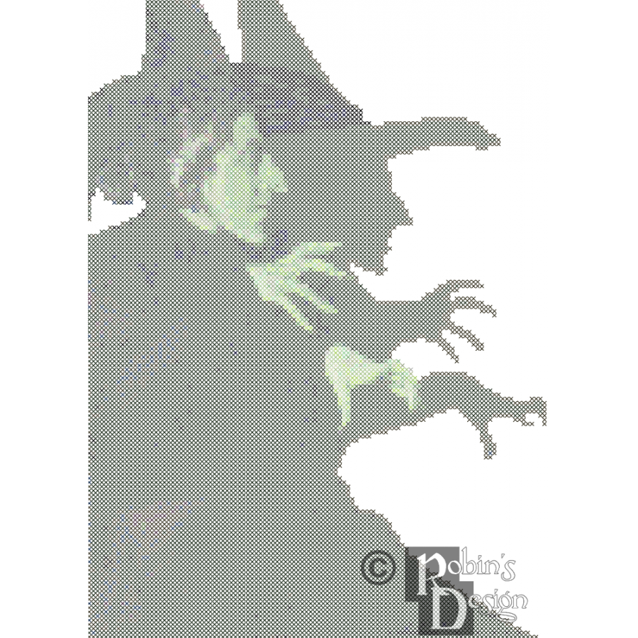 Wicked Witch of the West Cross Stitch Pattern PDF