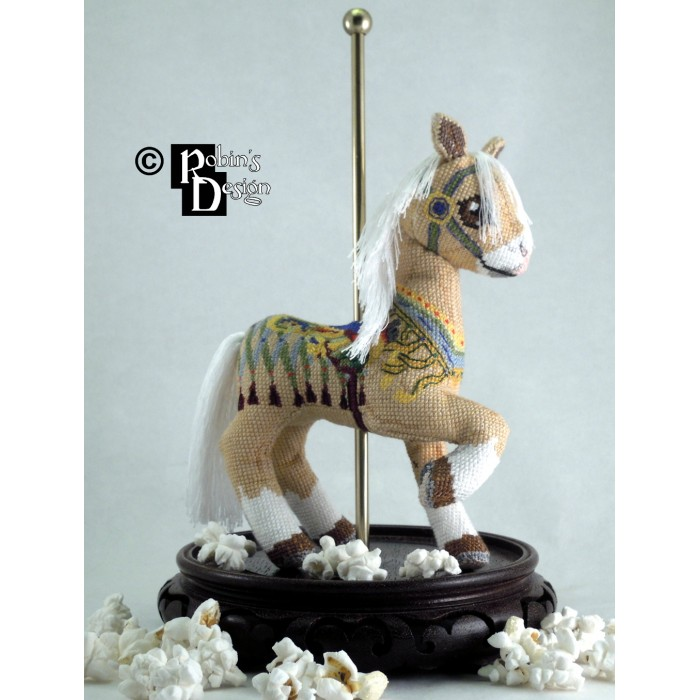 Collins the Palomino Carousel Horse Doll 3D Cross Stitch Animal Sewing Pattern PDF