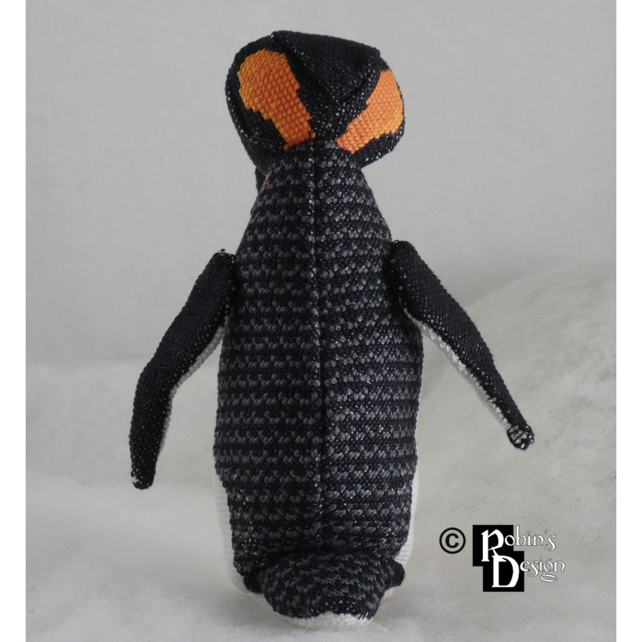 Benedict the Penguin Doll 3D Cross Stitch Animal Sewing Pattern PDF Download
