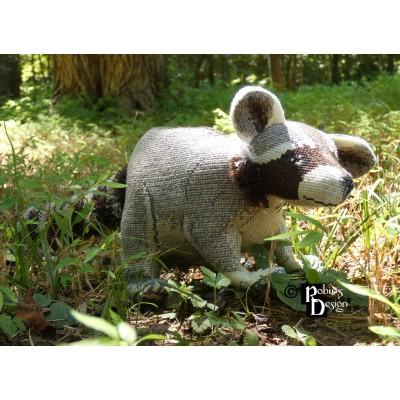 Norton the Raccoon Doll 3D Cross Stitch Animal Sewing Pattern PDF Download