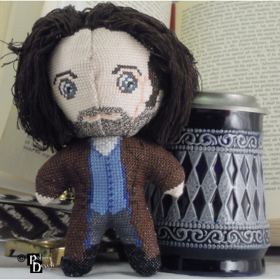 Ross Poldark Doll 3D Cross Stitch Sewing Pattern PDF