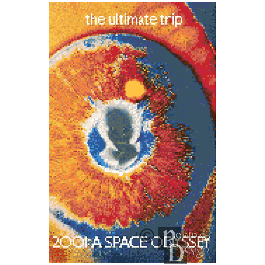 2001: A Space Odyssey Poster Cross Stitch Pattern PDF