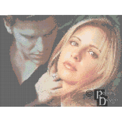 Buffy the Vampire Slayer and Angel Cross Stitch Pattern PDF Download