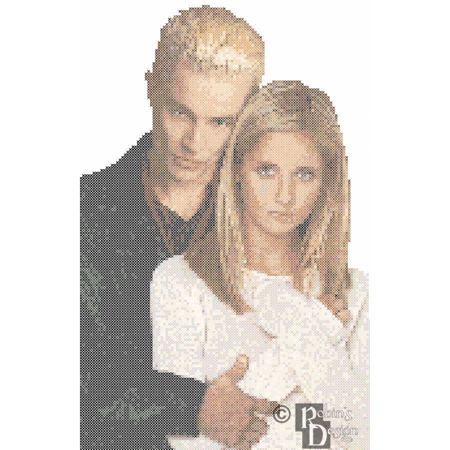 Buffy the Vampire Slayer and Spike Cross Stitch Pattern PDF