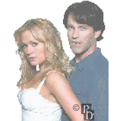 Sookie Stackhouse and Bill Compton Cross Stitch Pattern PDF