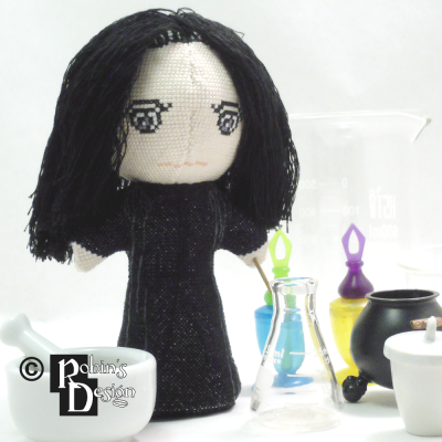 Severus Snape Doll 3D Cross Stitch Sewing Pattern PDF