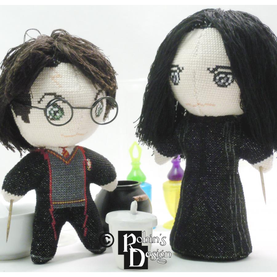 Severus Snape Doll 3D Cross Stitch Sewing Pattern PDF Download