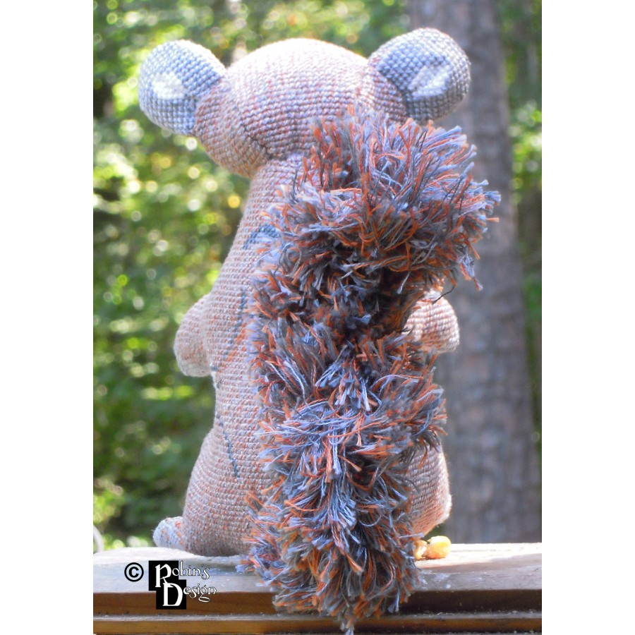 Merlin the Gray Squirrel Doll 3D Cross Stitch Animal Sewing Pattern PDF