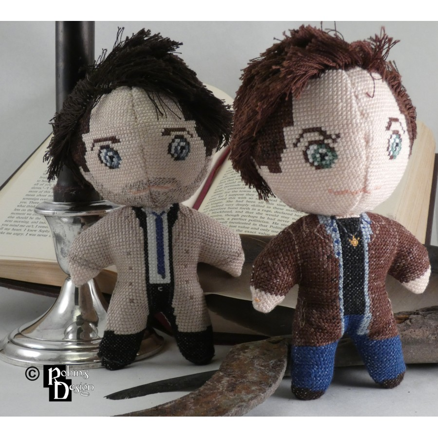Sam Winchester Doll 3D Cross Stitch Sewing Pattern PDF Download