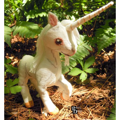 Thurber the Unicorn Doll 3D Cross Stitch Animal Sewing Pattern PDF Download