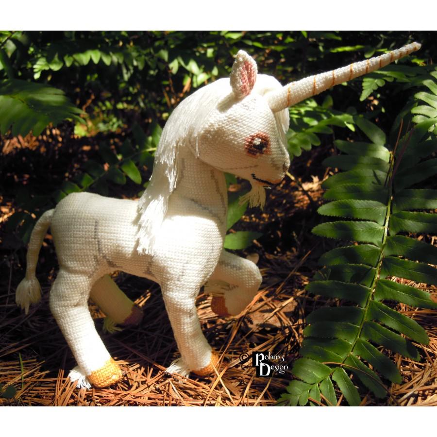 Thurber the Unicorn Doll 3D Cross Stitch Animal Sewing Pattern PDF Download