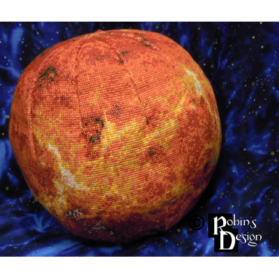 Venus Globe 3D Cross Stitch Sewing Pattern PDF