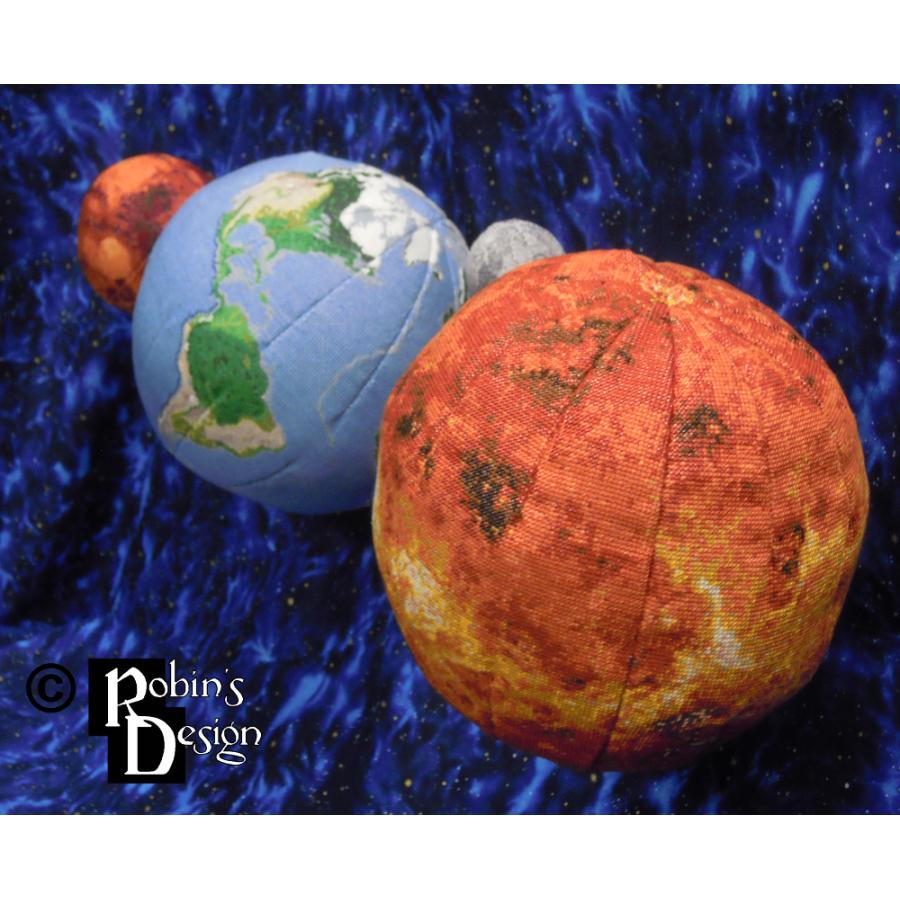 Venus Globe 3D Cross Stitch Sewing Pattern PDF Download