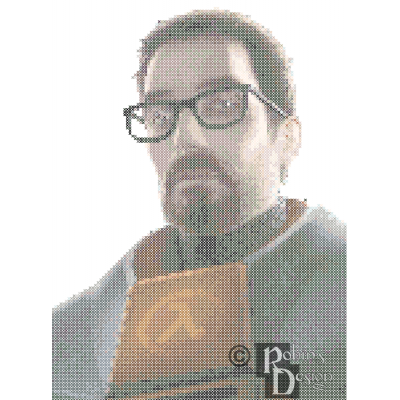 Dr. Gordon Freeman Cross Stitch Pattern PDF