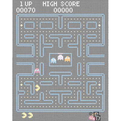 Pacman Cross Stitch Pattern PDF
