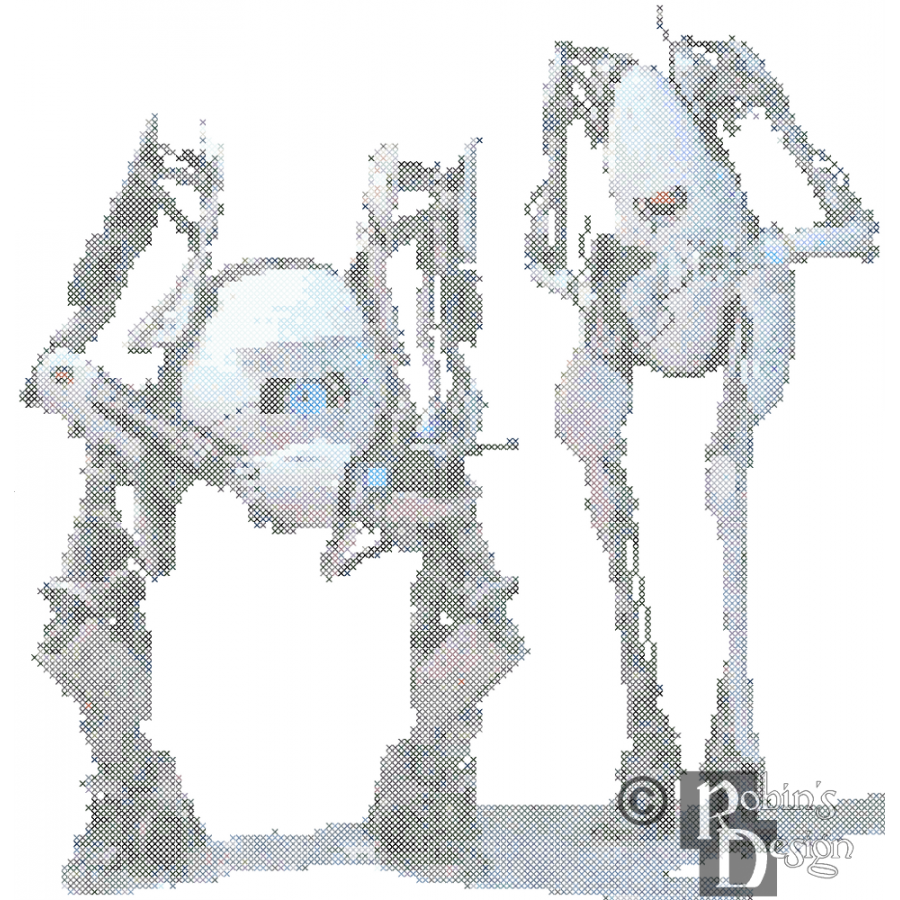 Atlas and P-Body Cross Stitch Pattern PDF
