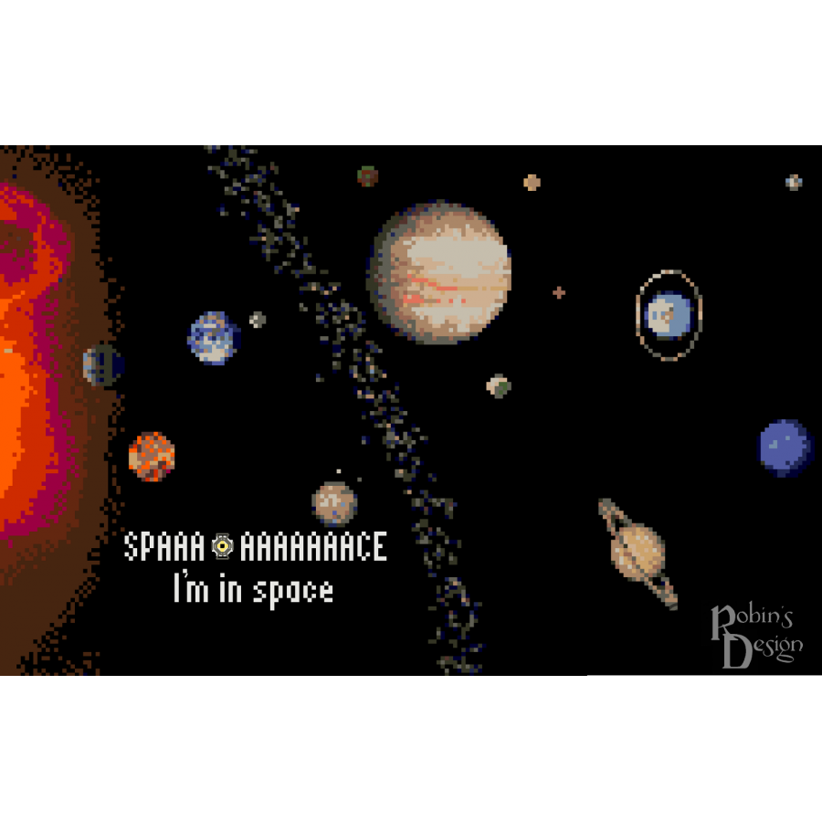 The Space Core in Space Counted Cross Stitch Pattern PDF
