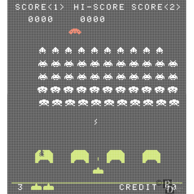 Space Invaders Cross Stitch Pattern PDF