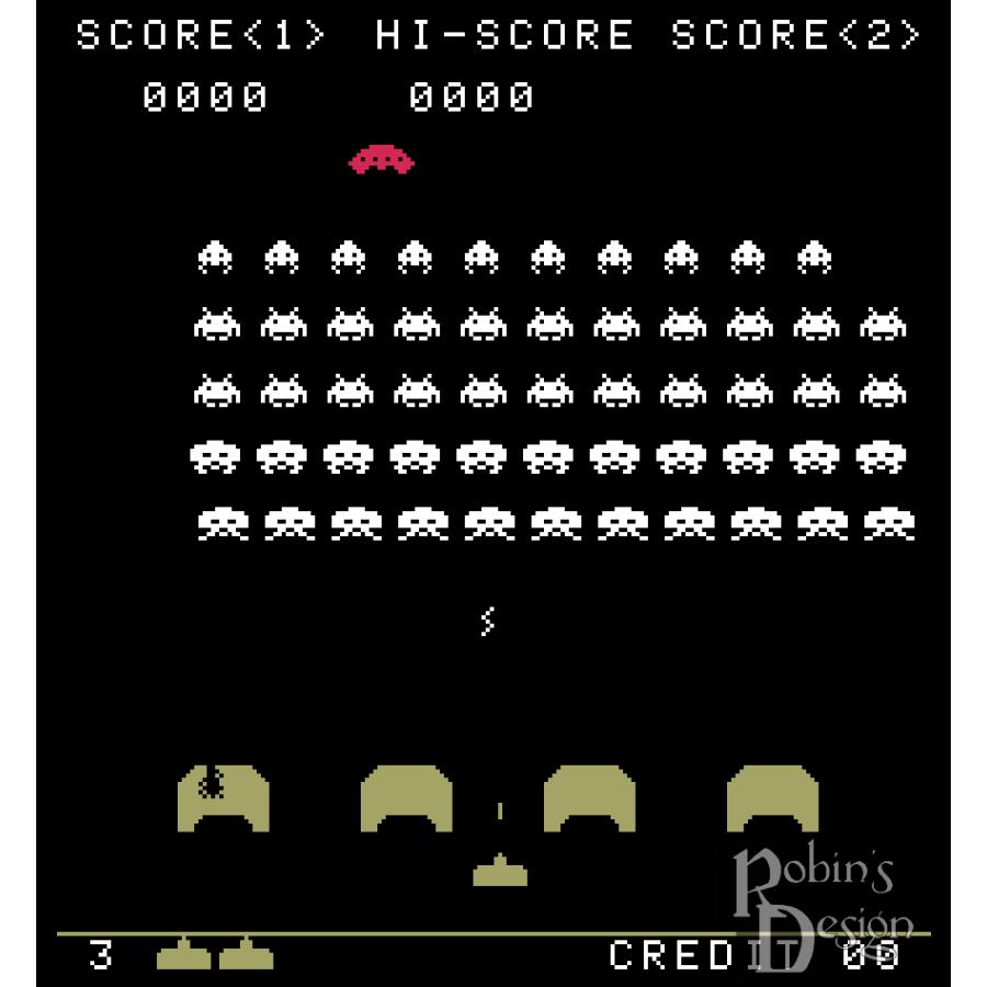 Space Invaders Cross Stitch Pattern PDF